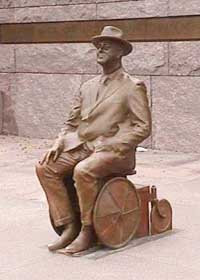 FDR in Wheelchair Statue
